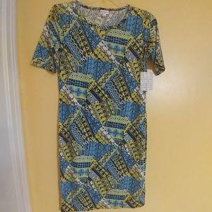 NWT LuLaRoe Julia Fun Print Dress L